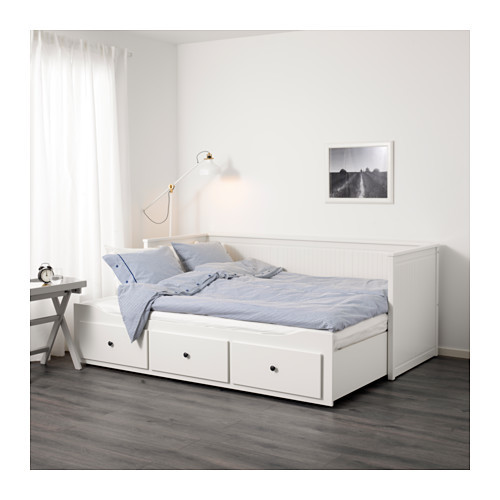 Large hemnes daybed frame with drawers white  0501647 pe632055 s4
